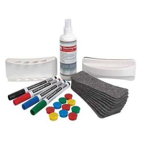 Набор для магнитно-маркерной доски (4 маркера, держатель, чистящее средство, стиратель, салфетки),