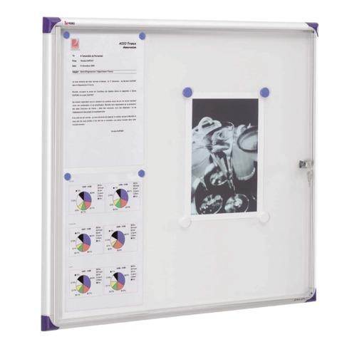 Доска-витрина NOBO (США) магнитная, 73х68х2,2 см, глубина 1 см, для внутреннего применения, на 6 листов А4, 1900847