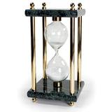 Песочные часы GALANT на 15 минут, зеленый мрамор с золотистой отделкой, 231504