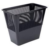 Корзина для бумаг, 12 л, прямоугольная, сетчатая, черная, СТАММ, КР31