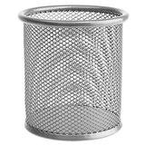 Подставка-органайзер ERICH KRAUSE, металлическая, круглое основание, серебристая, 22502