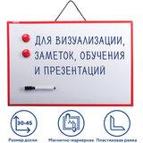 Доска магнитно-маркерная 30х45 см, ГАРАНТИЯ 10 ЛЕТ, ПИФАГОР, 231719