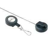 Держатели-рулетки для бейджей DURABLE (Германия), комплект 10 шт., с карабином, темно-серые, 8221-58
