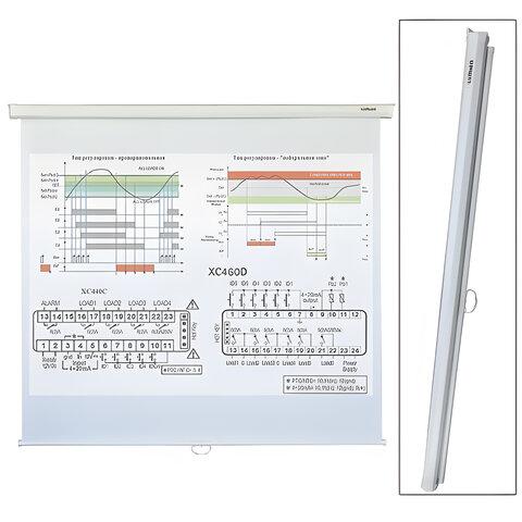 Экран проекционный LUMIEN ECO PICTURE, матовый, настенный, 150х150см, 1:1, LEP-100101