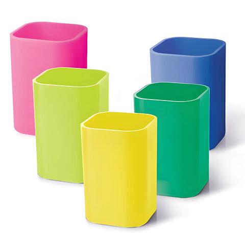 Подставка-органайзер (стакан для ручек), 5 цветов ассорти, 220533