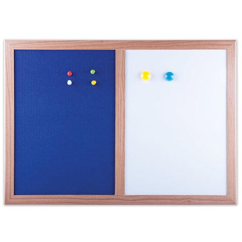 Доска комбинированная: магнитно-маркерная, текстильная для объявлений А3, 342х484 мм, BRAUBERG, 231995