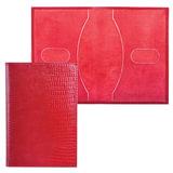 """Обложка для паспорта BEFLER """"Ящерица"""", натуральная кожа, тиснение, красная, О.1-3"""