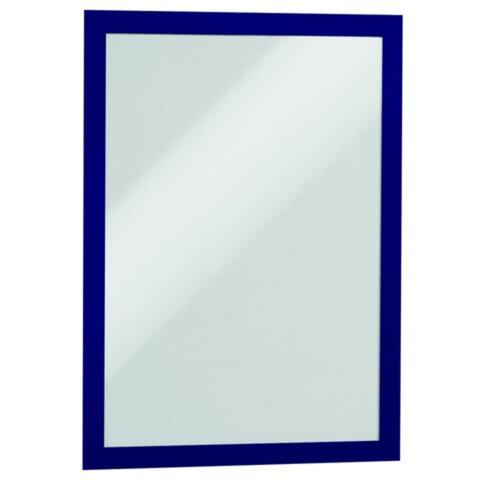 Рамки для рекламы и объявлений DURABLE (Германия), комплект 2 шт., DURAFRAME, настенные, магнитные, A4, самоклеящиеся, синие, 4872-07
