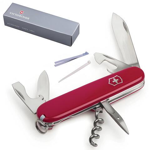 """Подарочный нож VICTORINOX """"Spartan"""", 91 мм, складной, красный, 12 функций, 1.3603"""