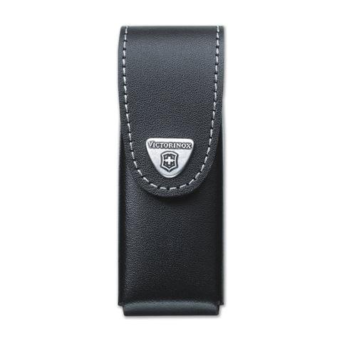 Подарочный чехол для ножей VICTORINOX, кожа, черный, на липучке, 0.87../0.89.., до 6 уровней, 4.0524.31