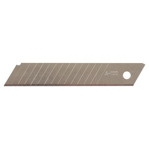 Лезвия для ножей 18 мм КОМПЛЕКТ 10 ШТ., толщина лезвия 0,38 мм, в пластиковом пенале, STAFF