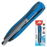 "Нож канцелярский 9 мм MAPED (Франция) ""Zenoa"", автофиксатор, цвет корпуса синий, блистер, 086010"