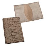 """Обложка для паспорта BEFLER """"Кайман"""", натуральная кожа, тиснение """"крокодил"""", бежевая, О.1-13беж"""