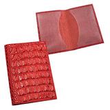 """Обложка для паспорта BEFLER """"Кайман"""", натуральная кожа, тиснение """"крокодил"""", красная, О.1-13красн"""