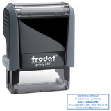 Оснастка для штампа, размер оттиска 38х14 мм, синий, TRODAT 4911 P4, подушка в комплекте, 52869