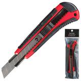 Нож универсальный 18 мм LACO (ЛАКО, Германия), автофиксатор, резиновые вставки, + 2 лезвия, 18 C