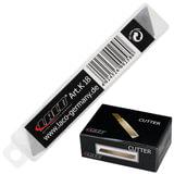 Лезвия для ножей 18 мм LACO (Германия), комплект 10 шт., толщина лезвия 0,5 мм, в пластиковой тубе, K 18