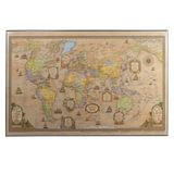 """Коврик-подкладка настольный для письма, с картой мира ретро, 380х590 мм, """"ДПС"""", 2129.С"""