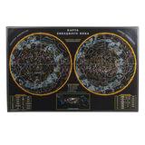 """Коврик-подкладка настольный для письма, с картой звездного неба, 380х590 мм, """"ДПС"""", 2129.З"""
