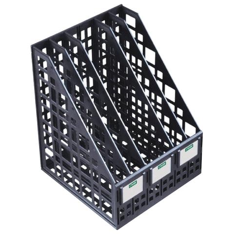 Лоток вертикальный для бумаг СТАММ, ширина 240 мм, 5 отделений, сетчатый, сборный, черный, ЛТ85