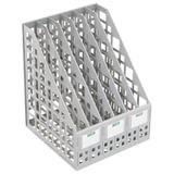 Лоток вертикальный для бумаг СТАММ, ширина 240 мм, 6 отделений, сетчатый, сборный, серый, ЛТ86