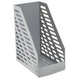 """Лоток вертикальный для бумаг СТАММ """"XXL"""", ширина 160 мм, серый, ЛТ900"""