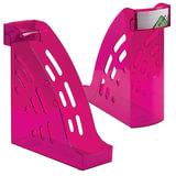 """Лоток вертикальный для бумаг СТАММ """"Торнадо"""", ширина 95 мм, тонированный фиолетовый (слива), ЛТ408"""