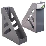 """Лоток вертикальный для бумаг СТАММ """"Ультра"""", ширина 100 мм, серый, ЛТ01"""