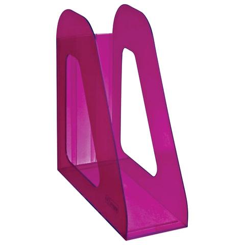 """Лоток вертикальный для бумаг СТАММ """"Фаворит"""", ширина 90 мм, тонированный фиолетовый (слива), ЛТ709"""