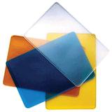 Обложка-карман для проездных документов и карт, ПВХ, ассорти (прозрачная синяя, желтая, оранжевая), 65х98 мм, ДПС, 1164.250.Ф