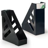 """Лотки вертикальные для бумаг СТАММ, набор 2 шт., """"Ультра"""", ширина 100 мм, черные, ЛТ104"""
