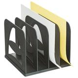 Лоток-сортер для бумаг СТАММ, 4 отделения, сборный, черный, СО02