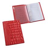 """Бумажник водителя BEFLER """"Кайман"""", натуральная кожа, тиснение, 6 пластиковых карманов, красный, BV.1.-13"""