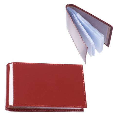 """Визитница карманная BEFLER """"Classic"""" на 40 визиток, натуральная кожа, коньяк, V.30.-1"""