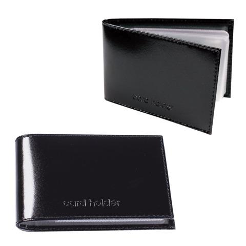 """Визитница карманная BEFLER """"Classic"""" на 40 визиток, натуральная кожа, тиснение, черная, К.5.-1"""