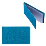 """Визитница карманная FABULA """"Talisman"""" на 40 визиток, натуральная кожа, тиснение, голубая, V.72.SN"""