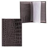 """Бумажник водителя FABULA """"Croco Nile"""", натуральная кожа, """"крокодил"""", 6 пластиковых карманов, черный, BV.2/1.KR"""