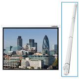 Экран проекционный LUMIEN MASTER CONTROL, матовый, настенный, электропривод, 180х180 см, 1:1, LMC-100102