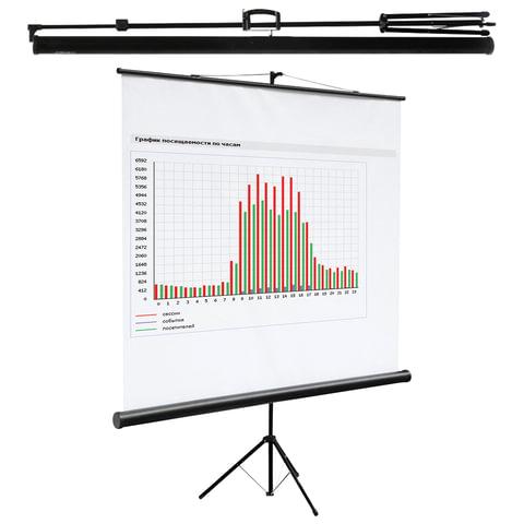 Экран проекционный DIGIS KONTUR-C, матовый, на треноге, 160х160см, 1:1, DSKC-1101