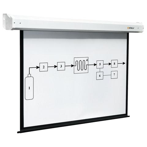 Экран проекционный DIGIS ELECTRA, матовый, настенный, электропривод, 200х200см, 1:1, DSEM-1104