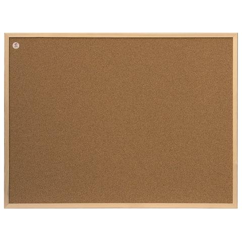 Доска пробковая для объявлений 80x60 см, деревянная рамка, 2х3 ECO, (Польша), TC86/C