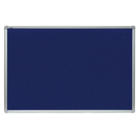 Доска с текстильным покрытием 90x120см. алюминиевая рамка. OFFICE.