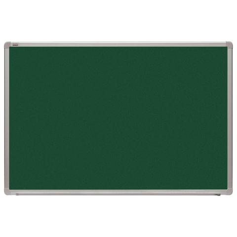 Доска для мела магнитная (60x90см). зеленая. алюминиевая рамка. OFFICE