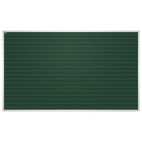 Доска для мела магнитная 85x100см. зеленая. В ЛИНИЮ. алюм рамка. EDUCATION 2х3(Польша)TKU8510L