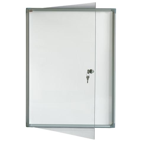 Доска-витрина магнитно-маркерная. 1 лист А4. алюминиевая рамка. OFFICE.