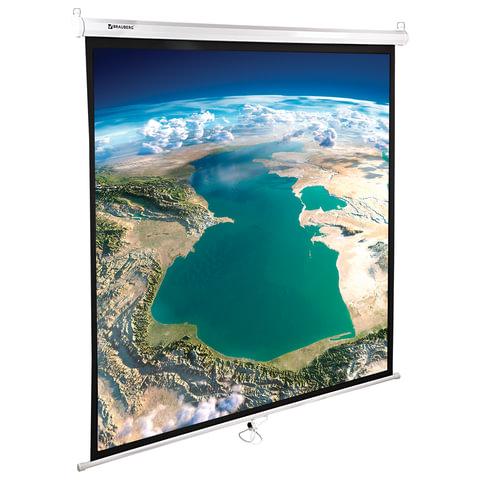Экран проекционный BRAUBERG WALL, матовый, настенный, 180х180см, 1:1, 236726