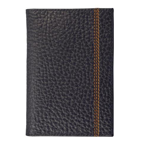 """Обложка для паспорта FABULA """"Brooklyn"""", натуральная кожа, контрастная отстрочка, черная, О.81.BR"""