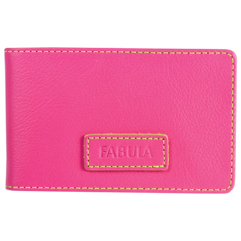 "Визитница карманная FABULA ""Ultra"", на 40 визиток, натуральная кожа, розовая, V.90.FP"