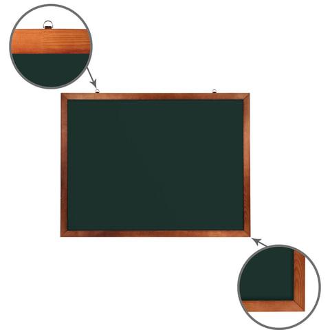 Доска для мела магнитная (90х120 см). зеленая. деревянная окрашенная рамка. Россия. BRAUBERG. 236892