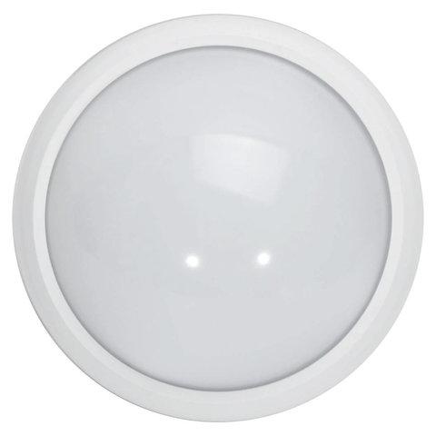 Светильник светодиодный ЭРА, 180х75, 8 Вт, 4000 К, 640 Лм, IP54, круглый, белый, датчик движения, SPB-1-08-MWS, Б0022452